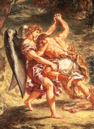 Jacob lutte avec l'ange dans images sacrée filippi03