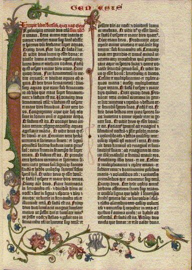Risultati immagini per bibbia gutenberg