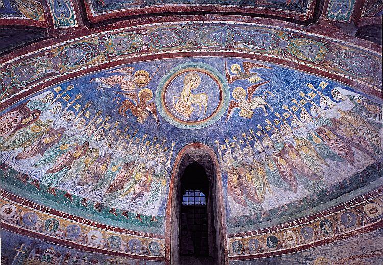 Cattedrale di  Anagni, Abside: l'Agnello, attorniato dai quattro esseri viventi e dai ventiquattro vegliardi dans immagini sacre 02r_03_02
