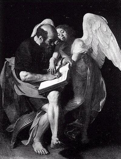 La prima versione di San Matteo e l'Angelo