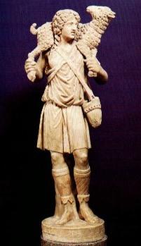 Natività, iconografia Statuetta-buon-pastore
