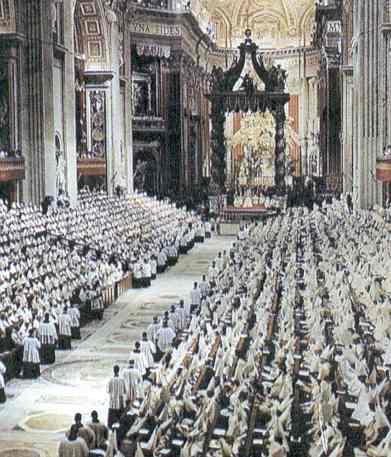 Foto Di Una Sessione Del Concilio Vaticano Ii Svoltosi All