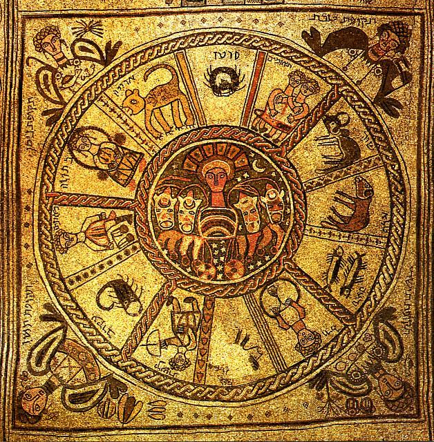 Bet Alfa: mosaico con i dodici mesi