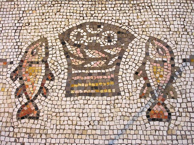 Tabgha: il mosaico della moltiplicazione dei pani