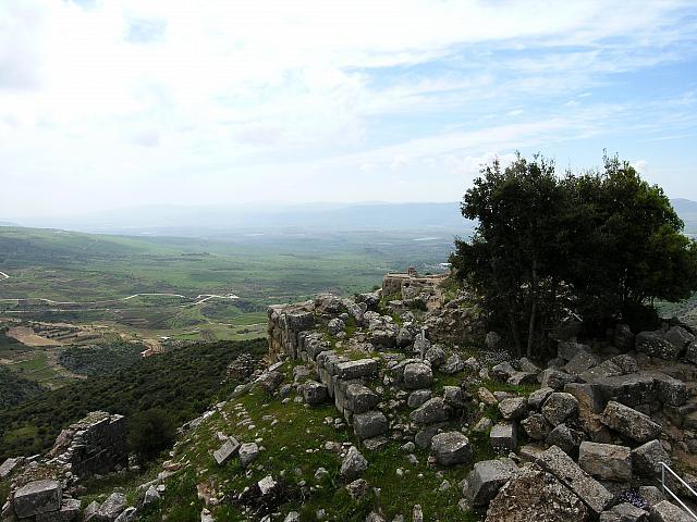 Panorama dal castello di Nimrud sull'alta Galilea
