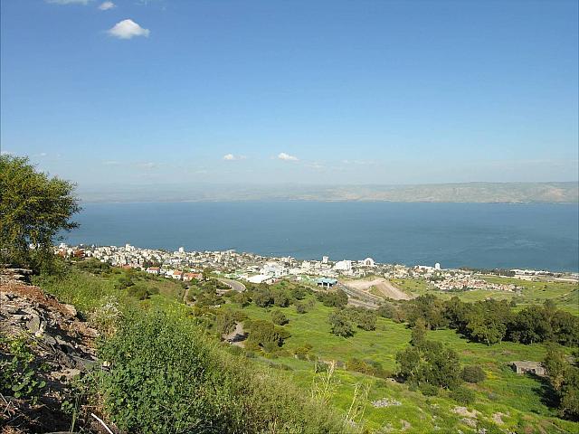 Panorama sul lago di Tiberiade