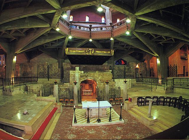 Nazareth: la chiesa inferiore della Basilica dell'Annunciazione