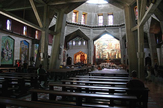 Nazareth: la chiesa superiore della Basilica dell'Annunciazione