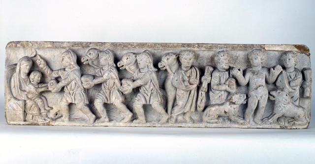 Frammento di sarcofago con l'epifania